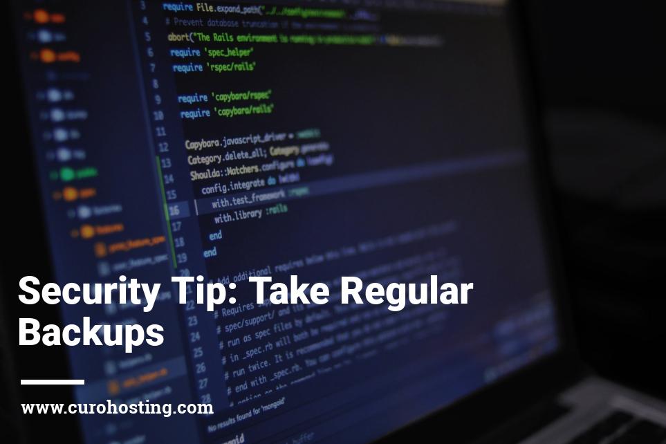 Take Regular WordPress Backups